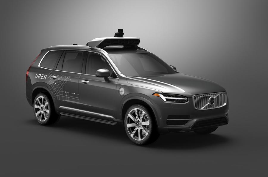 Volvo Uber autonomous taxi