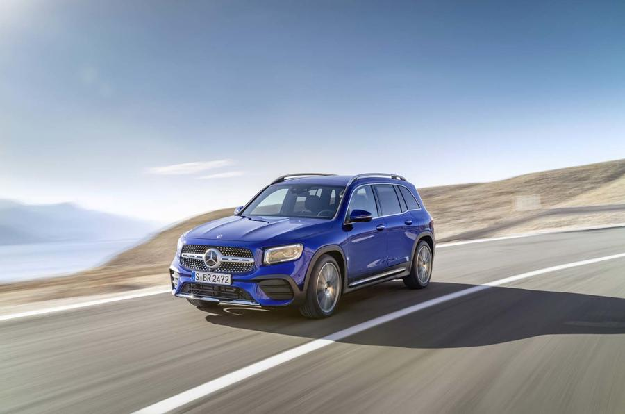 Mercedes-Benz GLB reveal - driving front