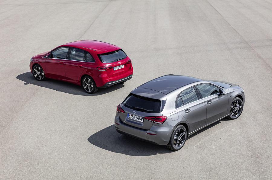 B-Class and A-Class hybrids rear