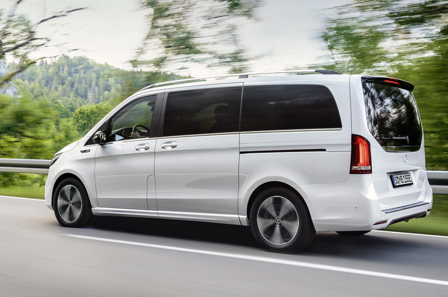 2020 Mercedes-Benz EQV revealed - driving rear