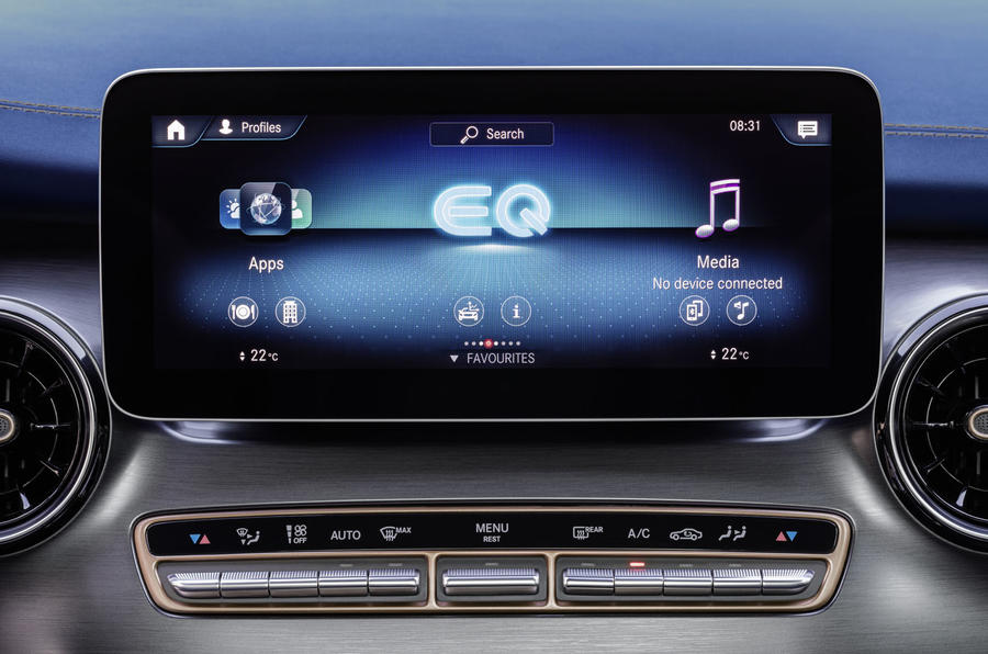 2020 Mercedes-Benz EQV revealed - infotainment