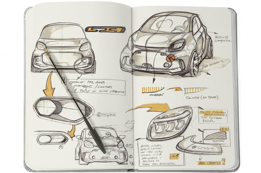 2020 Smart Fortwo EQ design sketch