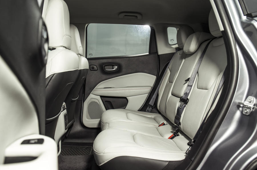 Jeep Compass 2018 UK review rear seats