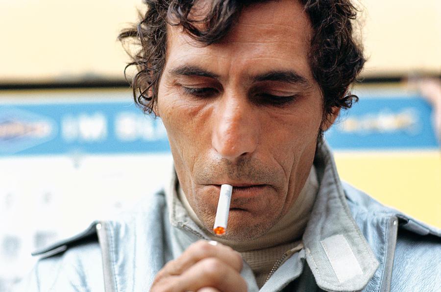 Vic Elford smoking