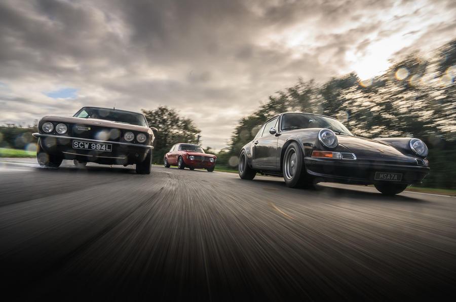 Alfaholics GTA-R 290, JIA Jensen Interceptor R and Tuthill Porsche 911