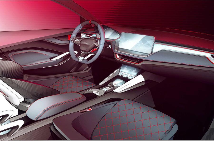 Skoda Vision RS interior sketch
