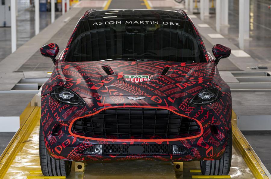 Aston Martin DBX prototype on production line