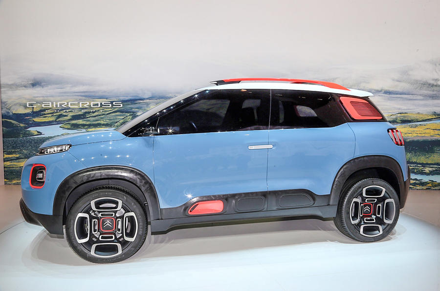 citroen c aircross concept previews future nissan juke rival autocar. Black Bedroom Furniture Sets. Home Design Ideas