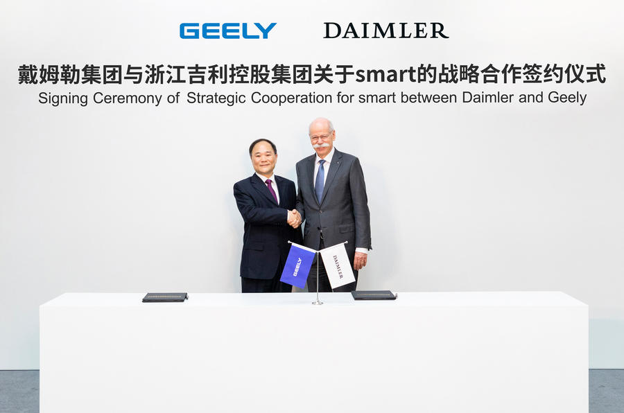 Daimler, Geely form electric auto JV