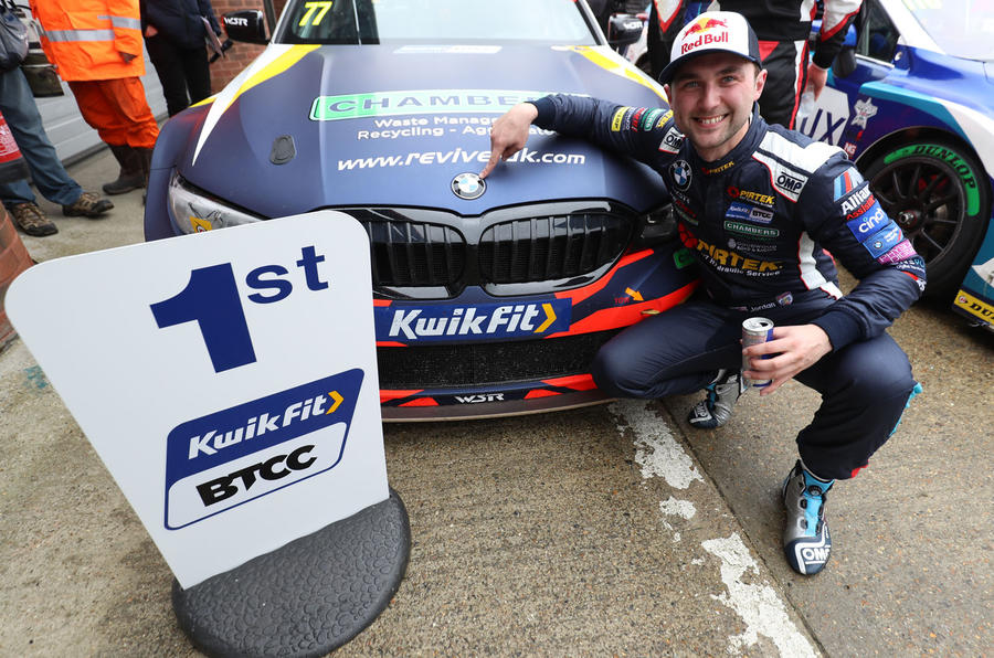 Andrew Jordan took first win for new BMW 3 Series