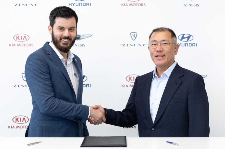 Rimac teams up with Hyundai and Kia to build electric sportscars