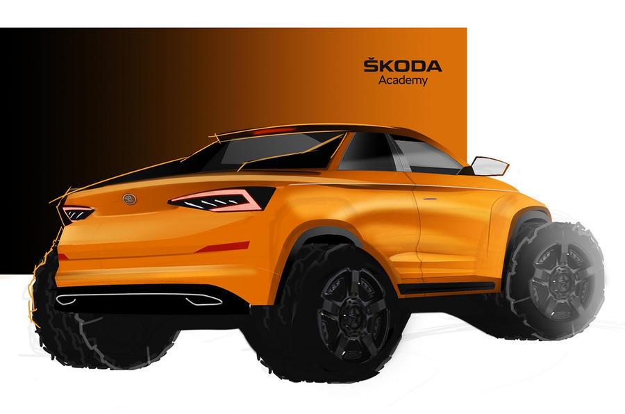 Skoda Kodiaq pick-up student concept