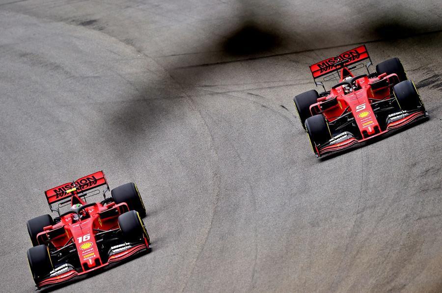 Leclerc and Vettel