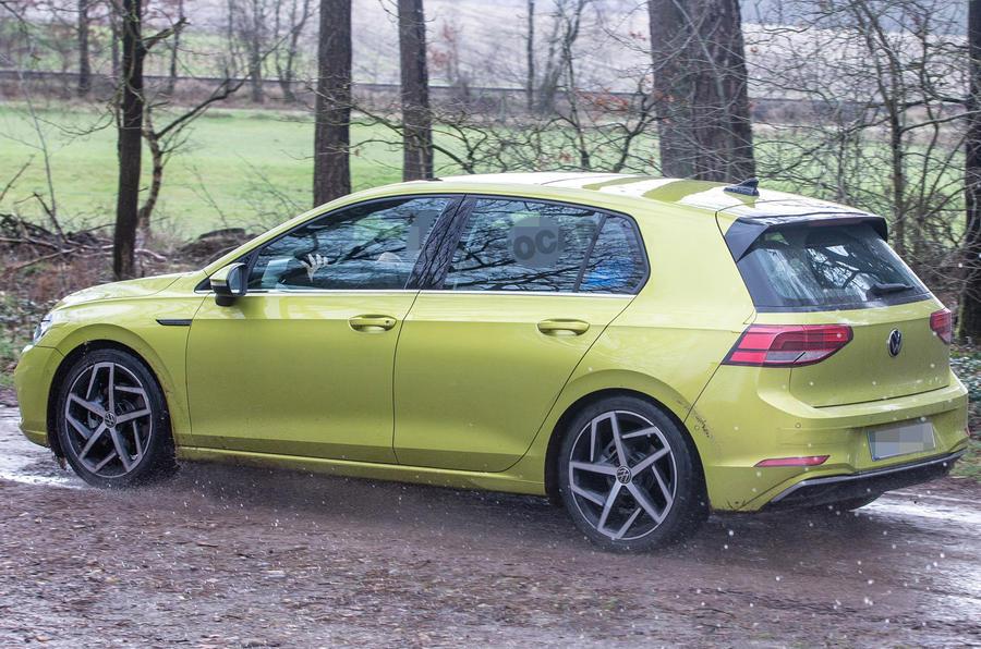 new volkswagen golf eighth generation hatch spied undisguised autocar