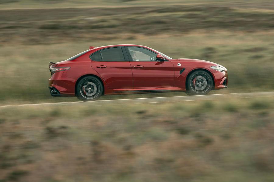 Alfa Romeo Giulia Quadrifoglio 2020 UK first drive review - hero side
