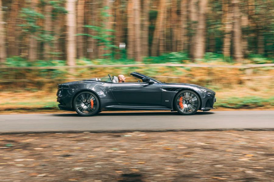 Aston Martin DBS Superleggera Volante 2019 UK first drive review - hero side