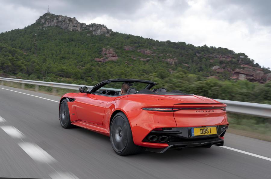Aston Martin DBS Superleggera Volante 2019 first drive review - hero rear