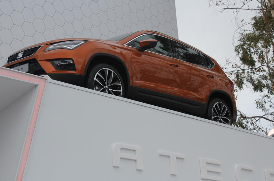 The SEAT Ateca is proudly on display