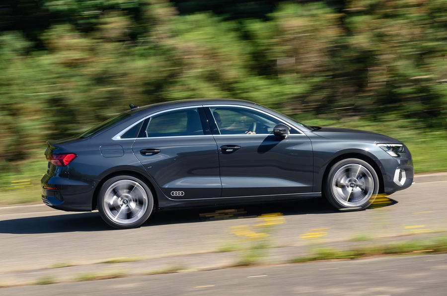Audi A3 saloon 2020 UK first drive review - hero side