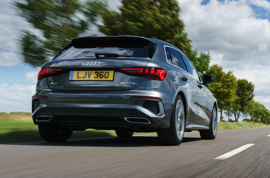 Audi A3 Sportback 2020 UK first drive review - hero rear