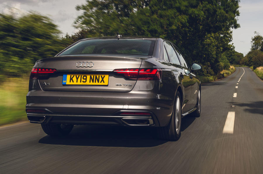 Audi A4 35 TFSI 2019 UK first drive review - tracking rear