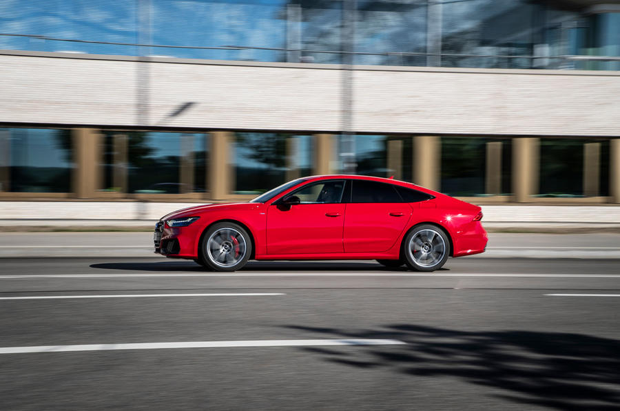 Audi A7 TFSI e 2019 first drive review - hero side