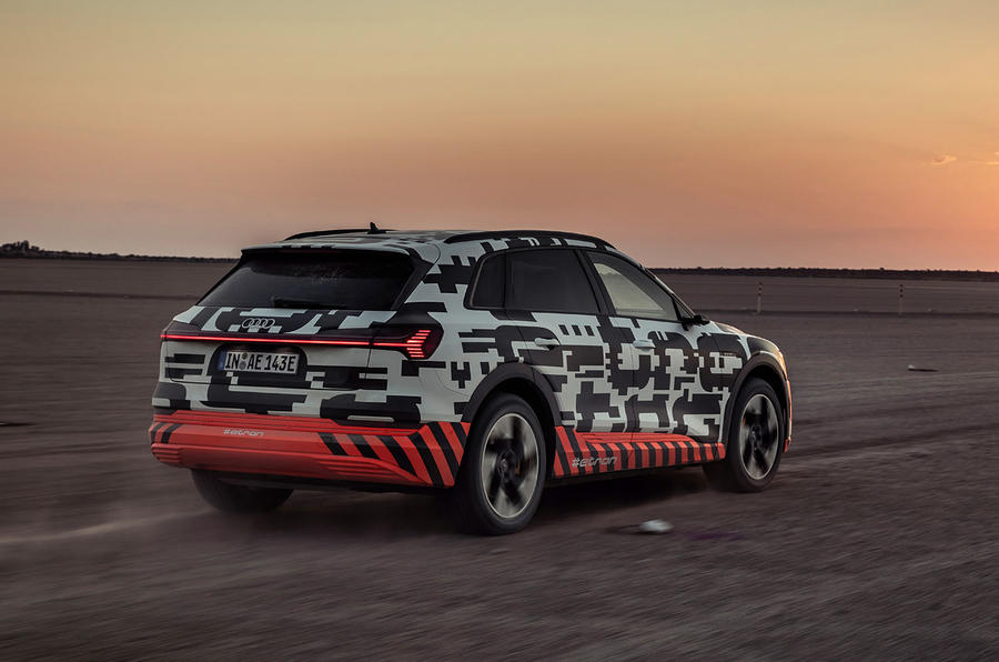Audi e-Tron 2019 prototype first drive review - hero rear