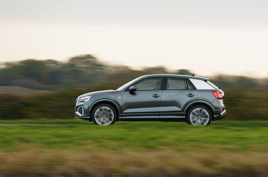 Audi Q2 35 TFSI Sport 2020 UK first drive review - hero side