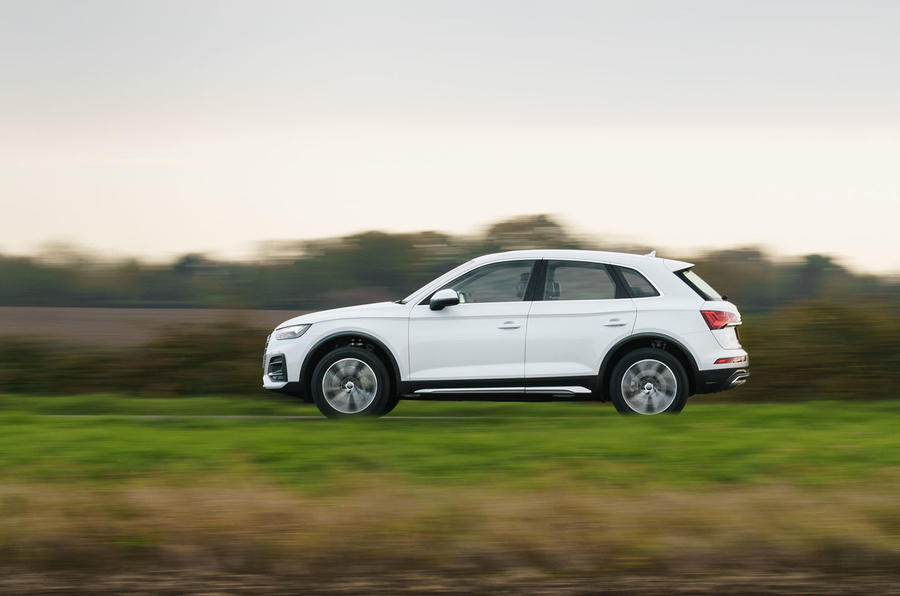 Audi Q5 40 TDI Sport 2020 UK first drive review - hero side