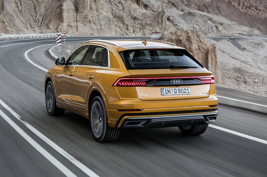 Audi Q8 2018 first drive review hero rear