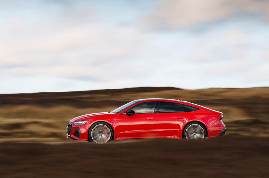 Audi RS7 Sportback 2020 UK first drive review - hero side