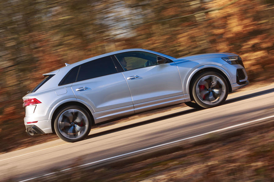 Audi RS Q8 2020 UK first drive review - hero side