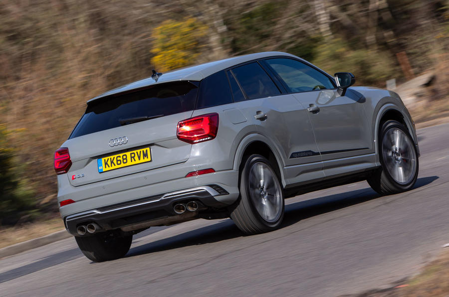 Audi SQ2 2019 UK first drive review - hero rear