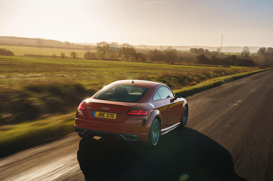 Audi TT Coupe 2019 UK first drive review - hero rear
