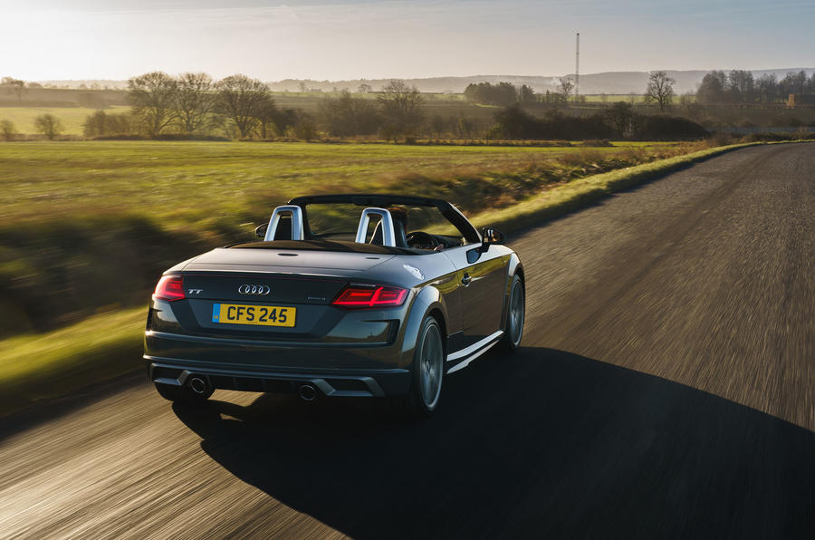Audi TT Roadster 2019 UK first drive review - hero rear