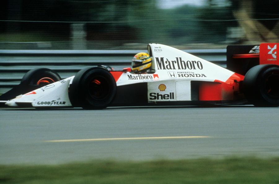 Ayrton Senna on wheels