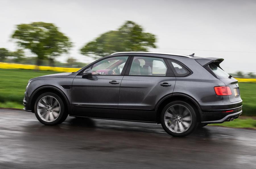 Bentley Bentayga Speed 2019 UK first drive review - hero rear