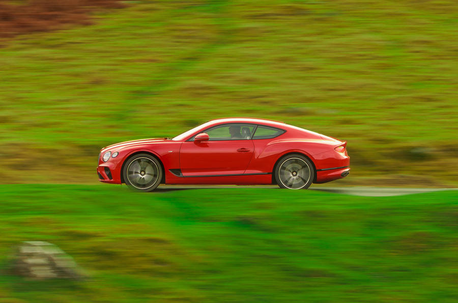 Bentley Continental GT V8 2020 UK first drive review - hero side