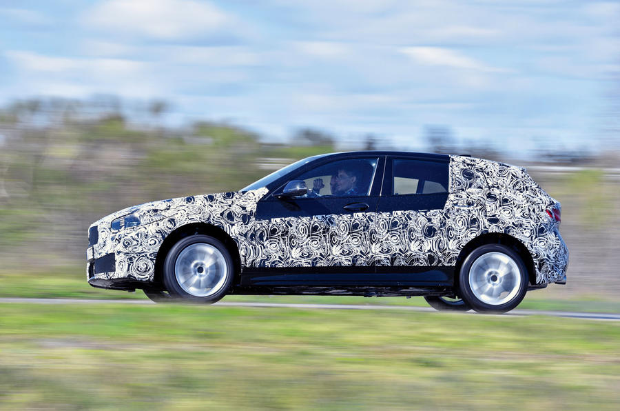 BMW 1 Series 2019 prototype drive - hero side