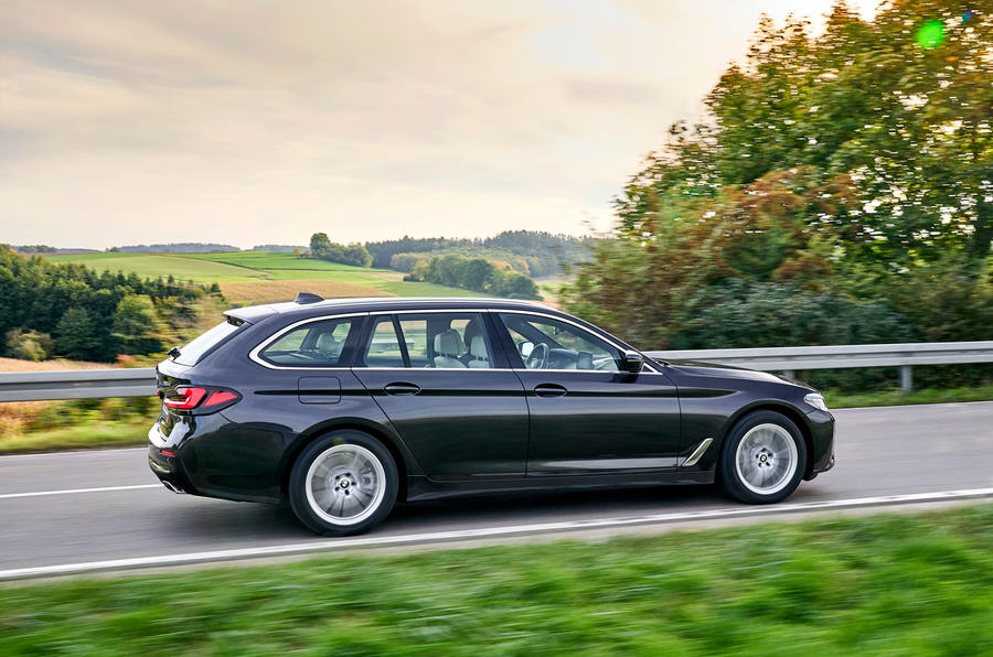 BMW 5 Series 2020 UK (LHD) first drive review - hero side