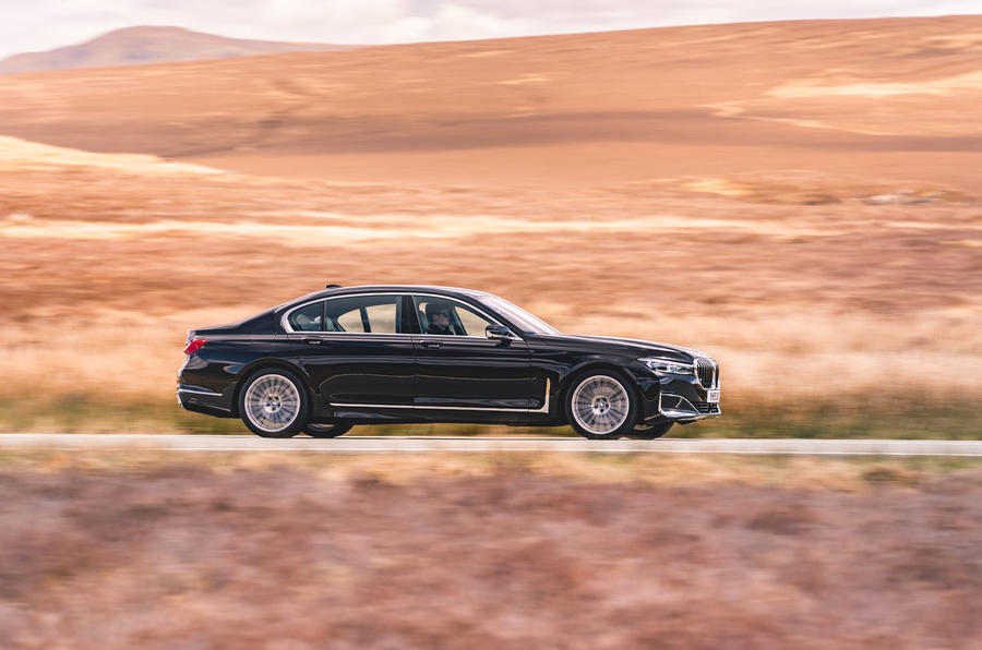 BMW 7 Series 730Ld 2019 UK first drive review - hero side