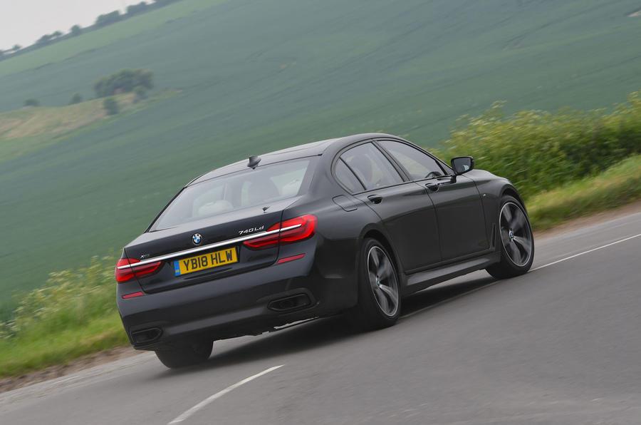 BMW 7 Series 740Ld long-term review hero rear