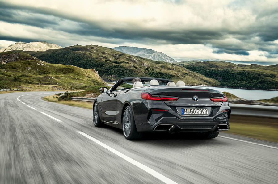 BMW 8 Series Convertible 850i 2019 first drive review - hero rear