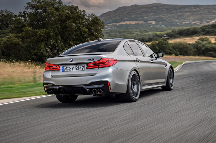 BMW M5 Competition 2018 first drive review hero rear