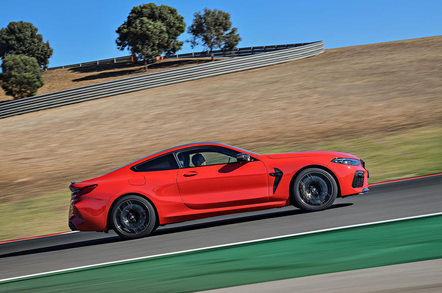 BMW M8 Competition Coupé 2019 first drive review - hero side