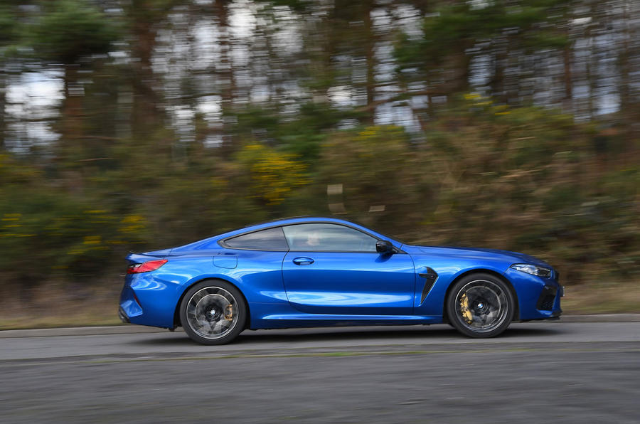 BMW M8 Competition Coupe 2020 UK first drive review - hero side