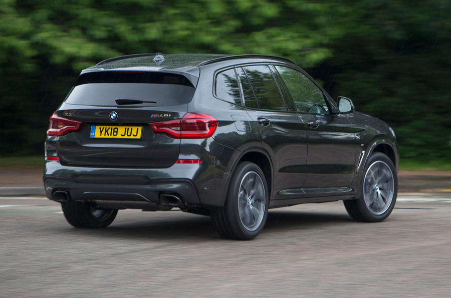 BMW X3 M40i 2018 UK review hero rear