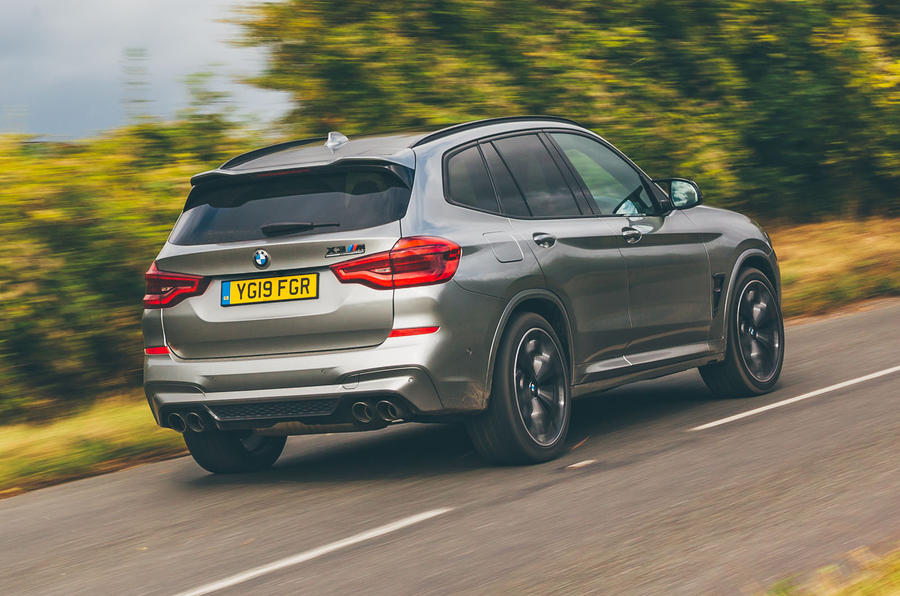 BMW X3 M Competition 2019 UK first drive review - hero rear