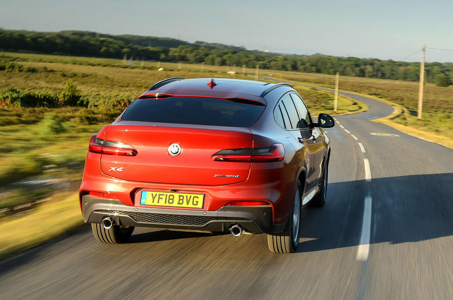 BMW X4 2018 UK first drive review hero rear