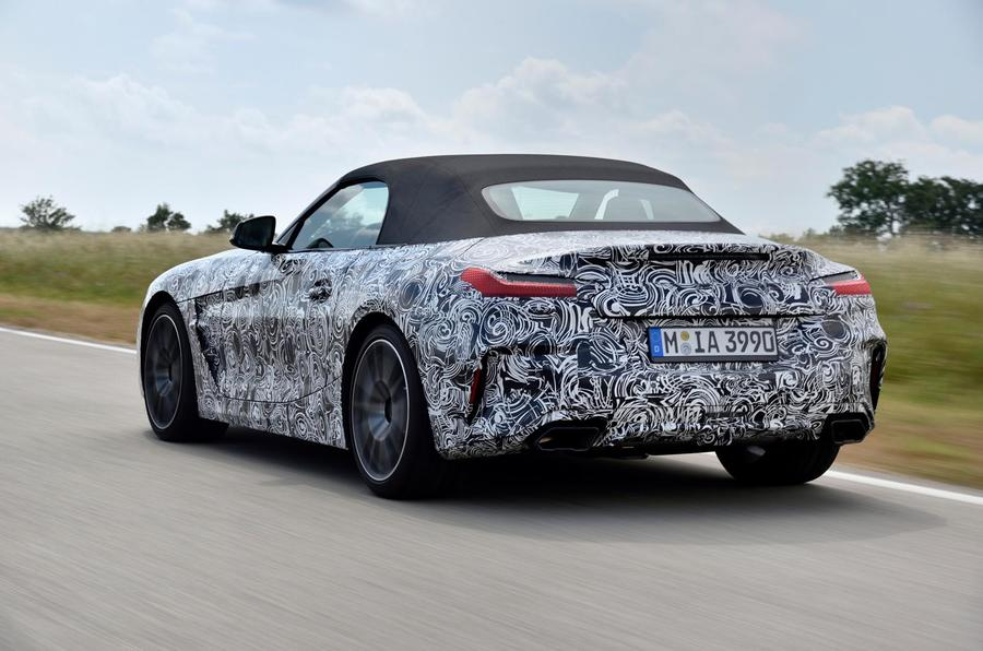 BMW Z4 prototype drive 2018 hero rear